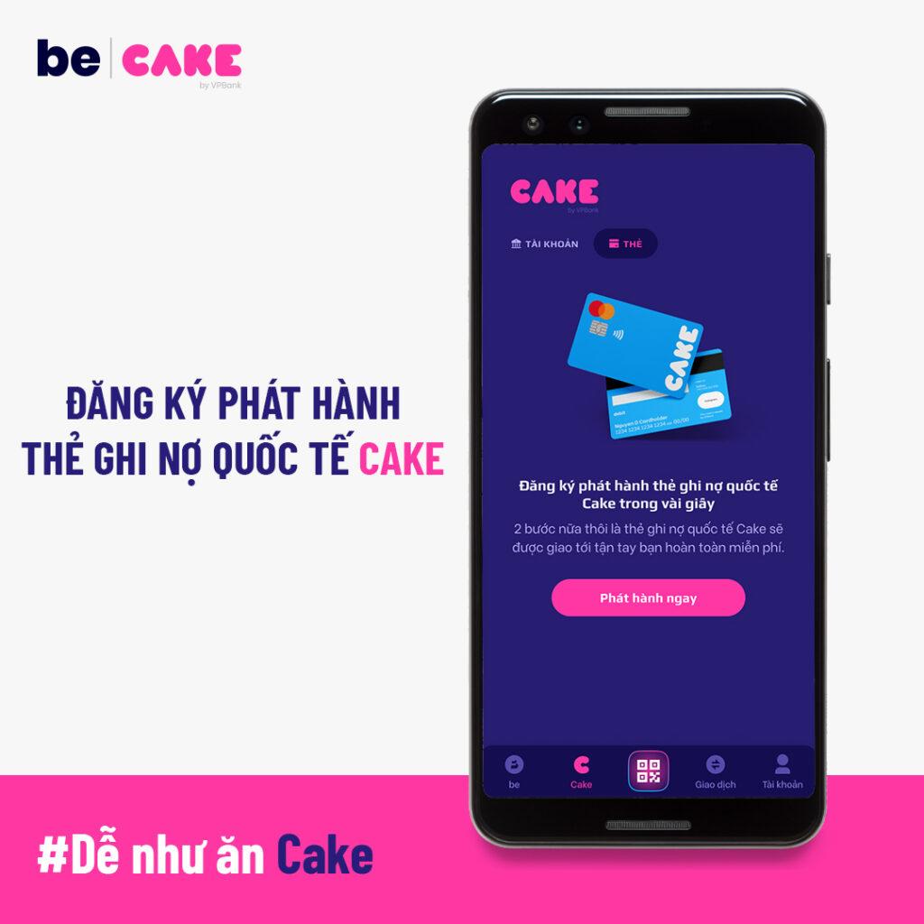 Hướng dẫn đăng ký phát hành thẻ phong cách Cake