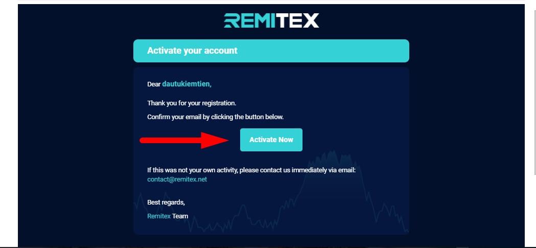 activate tài khoản remitex