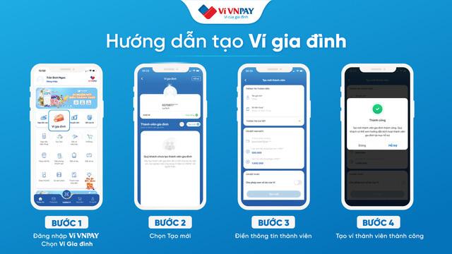 Cách tạo ví thành viên cho người thân trên VNPAY