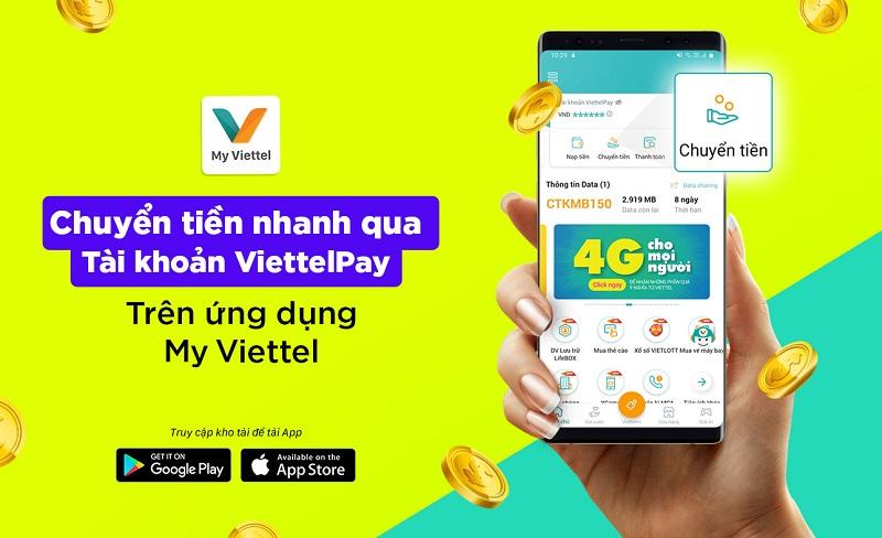 Chuyển tiền nhanh gọn qua Ví Viettelpay