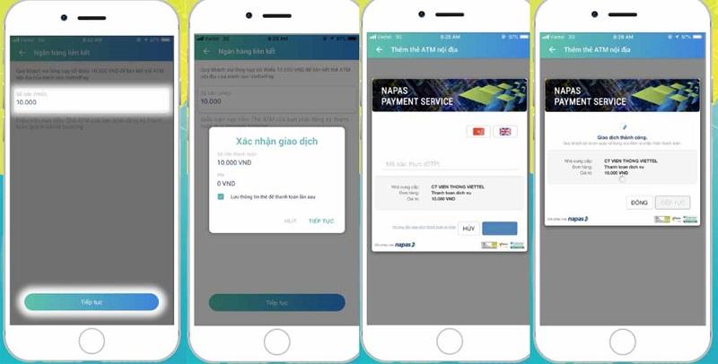 Nạp tiền app Viettelpay