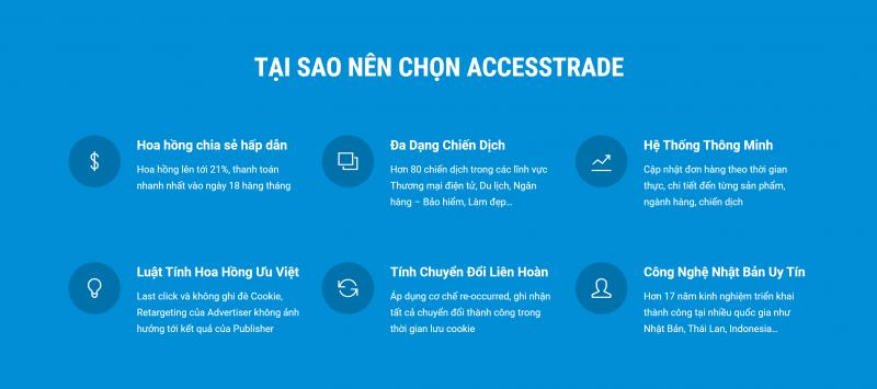 Tại sao nên chọn Accesstrade để đồng hành kiếm tiền Online