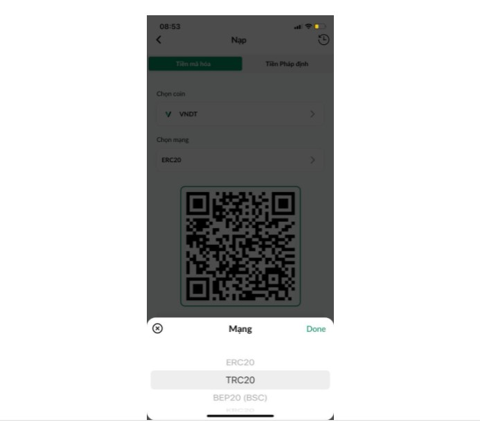 chọn coin nạp vndt